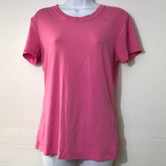 Pink nike dri fit cotton tee